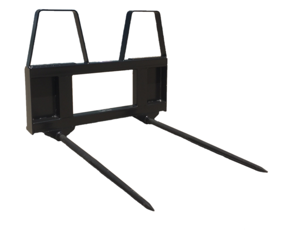 Skid Steer Bale Fork Attachment 3000 lb Capacity