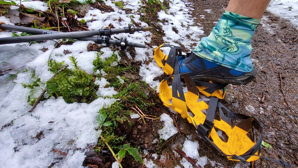 Using the Mudpons in sloshy snow and muddy conditions