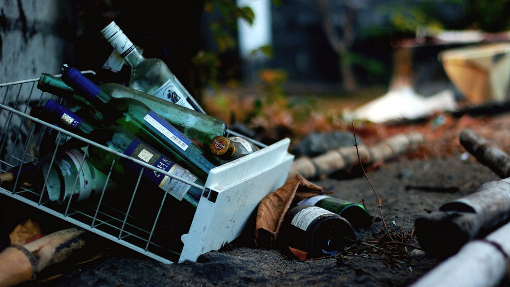 Discarded bottles