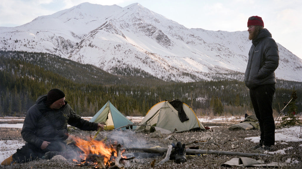 Camping in the cold
