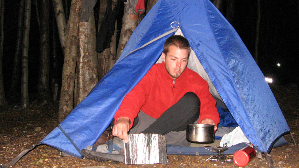 Cooking out of the tent