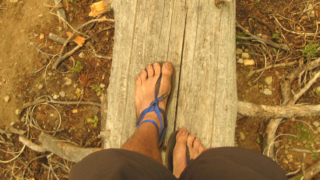 Hiking with flat sandals