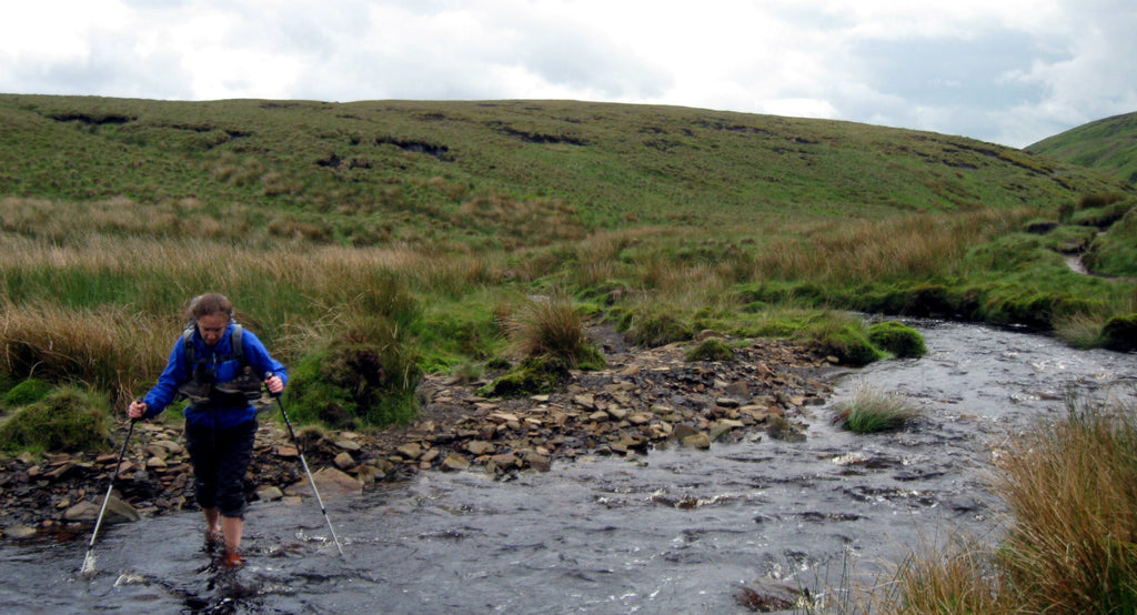 Using 3 setion poles for river crossings