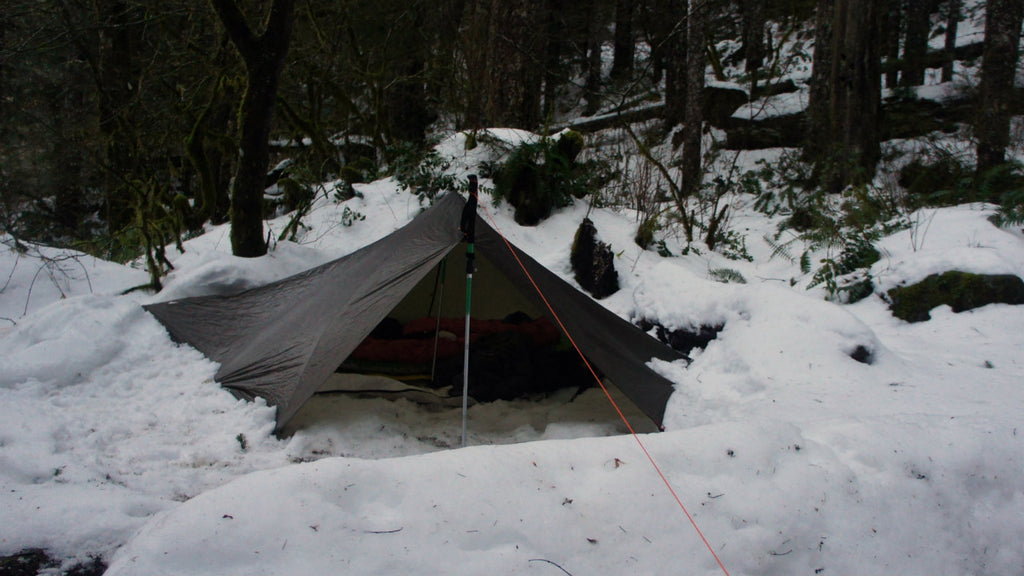 Mid tent in winter