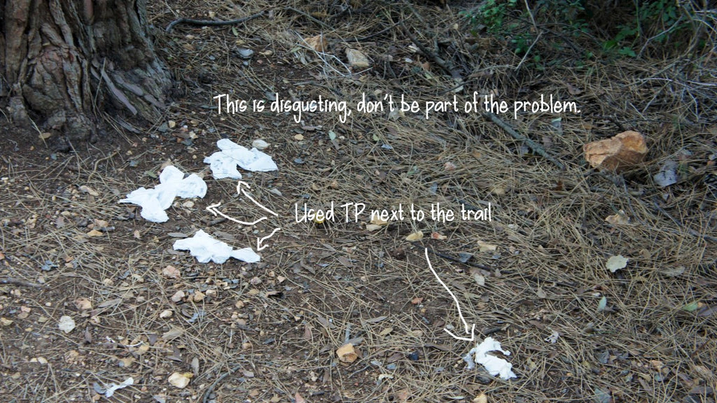 TP mess on the trail