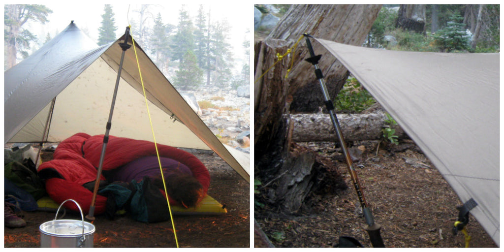 Using telescopic poles for shelter building: a big range of lengths