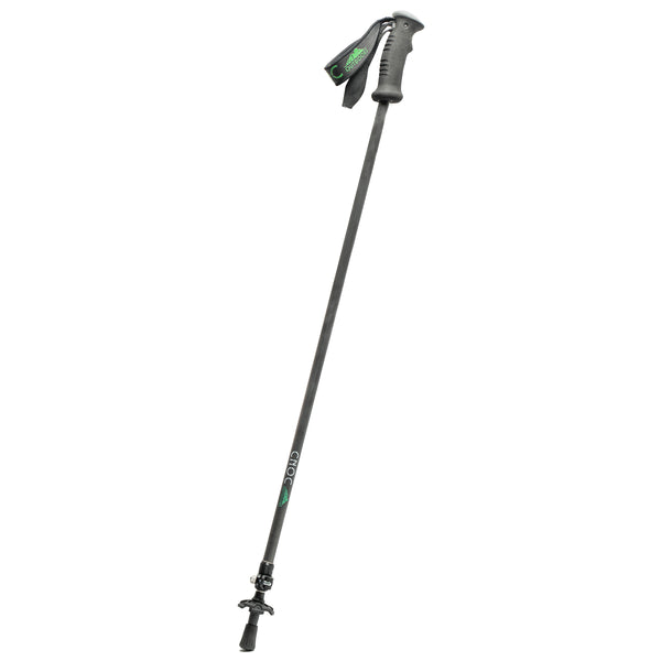 picture of Cnoc UL staff, collapsed to smallest length, with strap, on white background