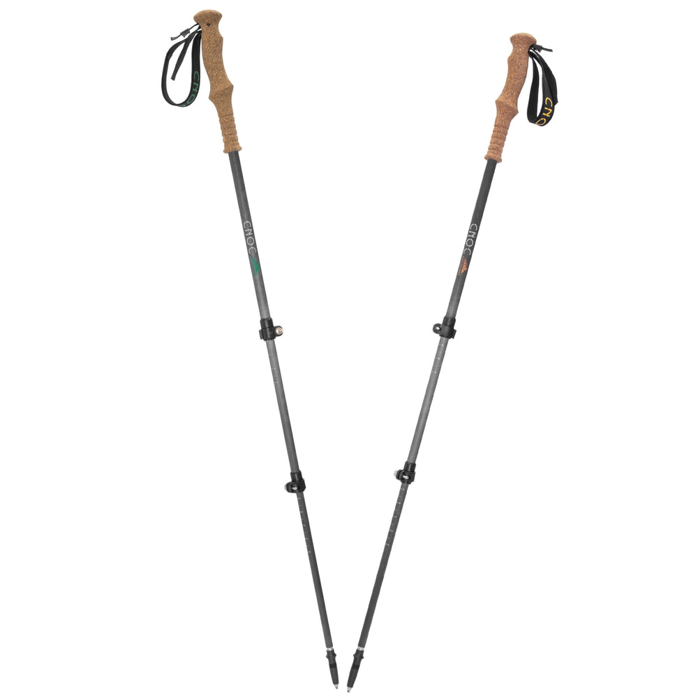 Cnoc Telescopic Trekking Poles, Cork Grip, Single Pole