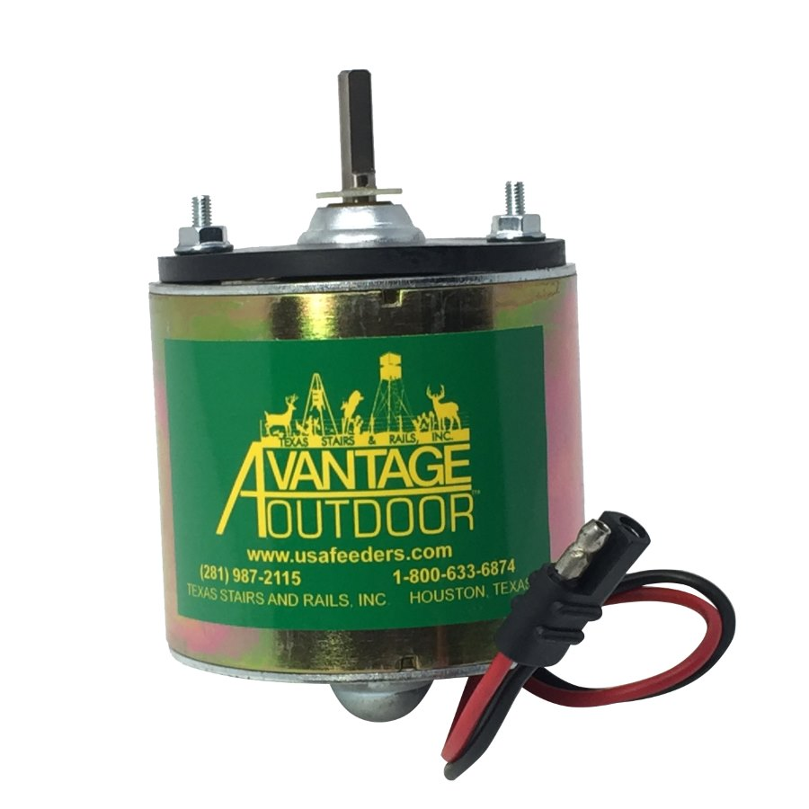 "Advantage 12 Volt Feeder Motor 1/4"" Shaft"