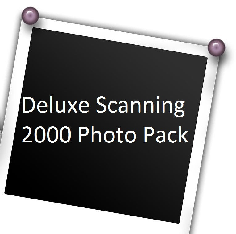 Deluxe Photo Scanning, 2,000 Pack w/ Free USB Stick!