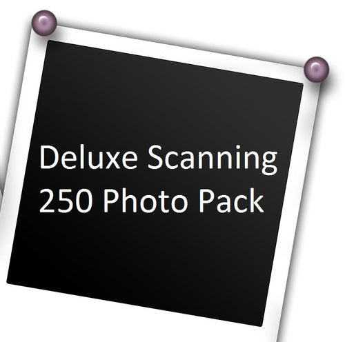 Deluxe Photo Scanning, 250 Pack w/ Free USB Stick!