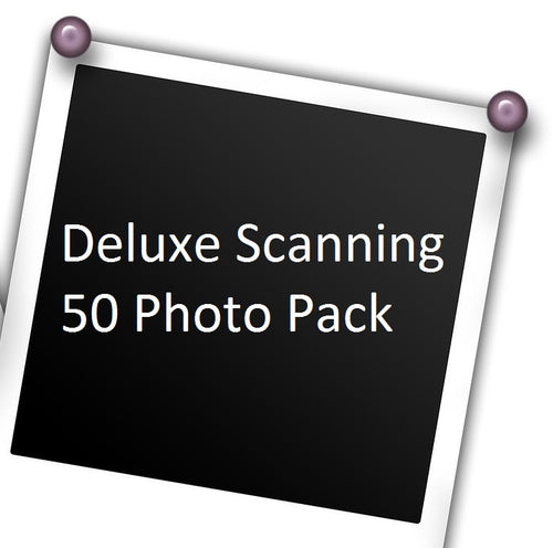 Deluxe Photo Scanning, up to 50 photos, w/ Free USB Stick!