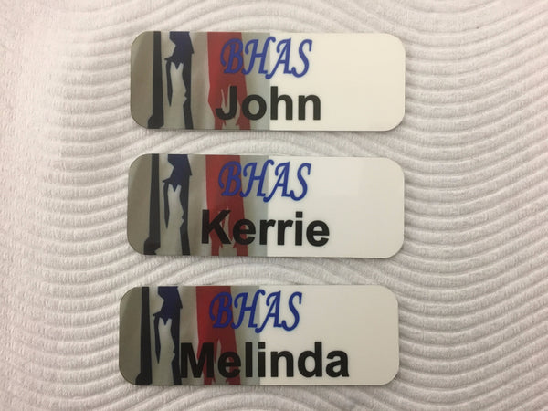 Name Badge  80x30mm with Rounded Corners