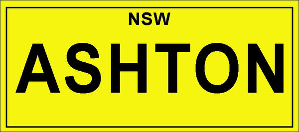 Childs Number Plate
