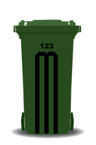 Wheelie Bin Cricket Stumps