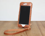 iphone 7 case leather crossbody wristlet