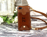 Custom Sorority Crossbody Card Slot Phone Purse