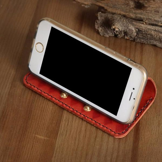 iPhone 7 case red leather wallet iphone 7 plus case handmade iphone 6 case iphone 6 plus case iphone case
