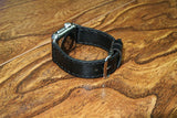 Apple Wristbands - BLACK LEATHER
