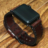 Apple Wristbands - CHOCOLATE LEATHER