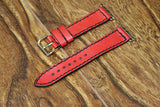 Apple Wristbands - RED LEATHER
