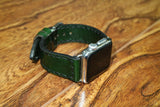 Apple Wristbands - GREEN LEATHER