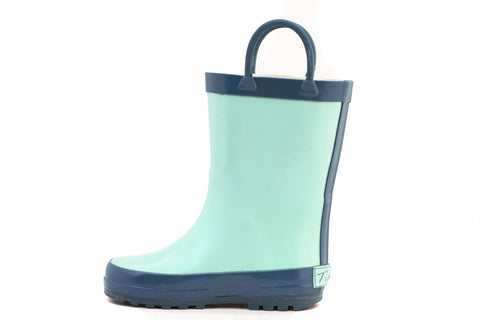 Blue Teal Rain Boot