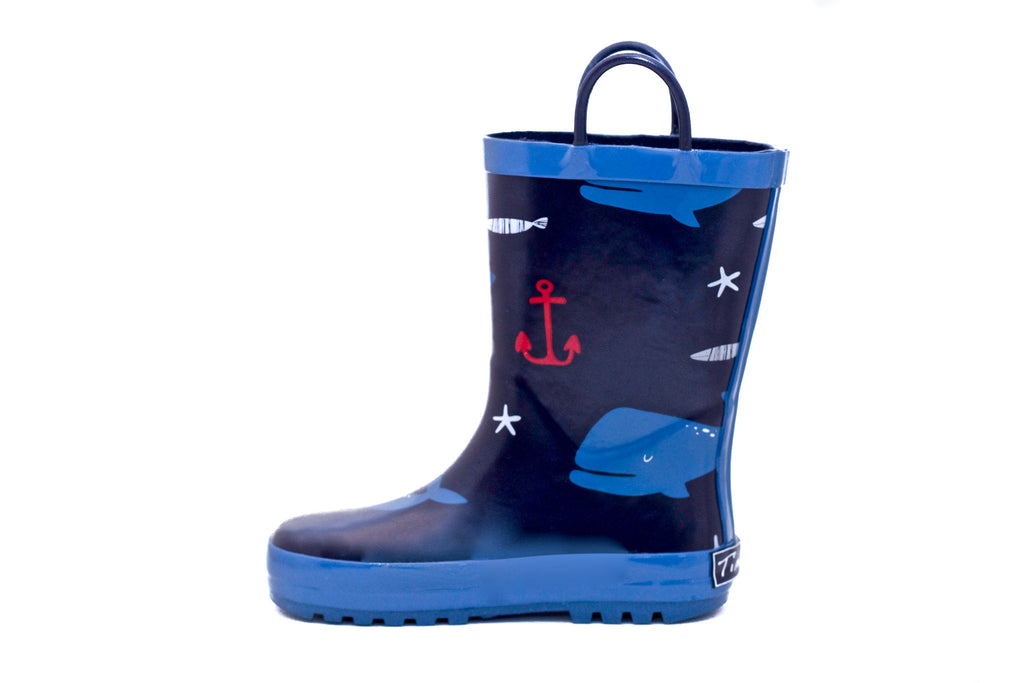 Nautical Rubber Rain Boots