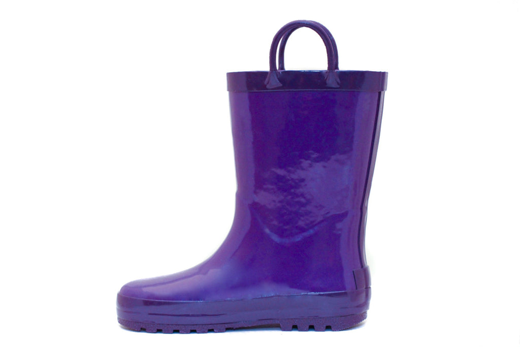 Purple & Plum Rubber Rain Boots