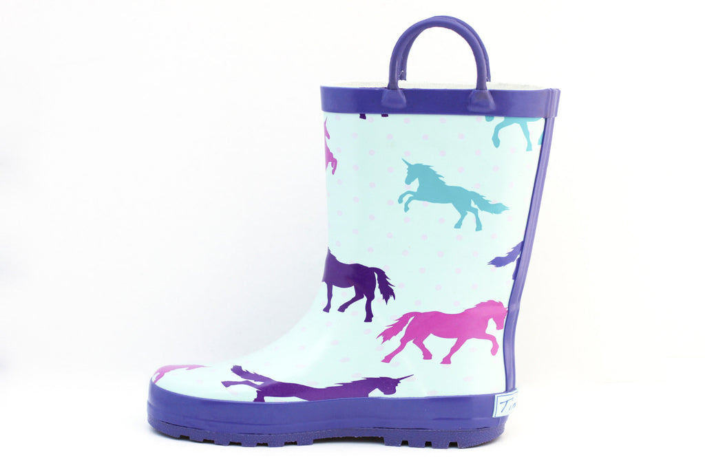 Purple Unicorn Rain Boots