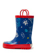 Rocket Ship Kids Rain Boots