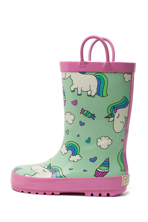 Rainbow Unicorns Kids Rain Boots