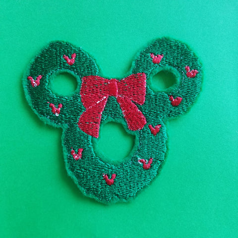 Mickey Wreath Patch