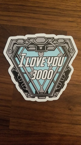 I love you 3000 sticker