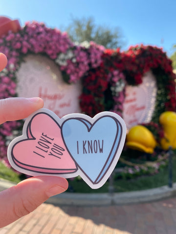 I love you I know Sticker