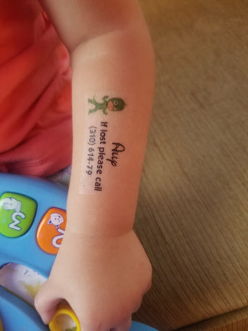 Child Safety Temporary tattoos