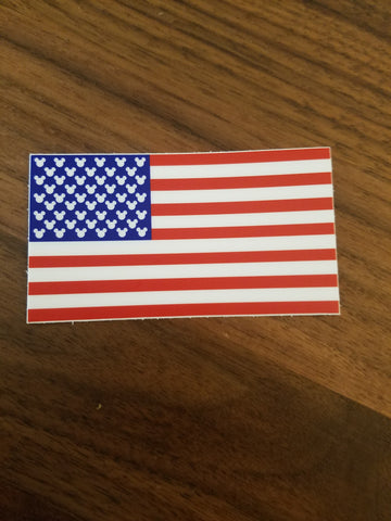 Mouse flag sticker