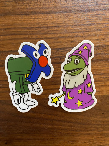 Lizard Wizard and Gary Grappling Hook Stickers