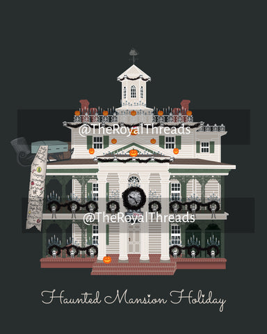 Haunted Mansion Holiday Print