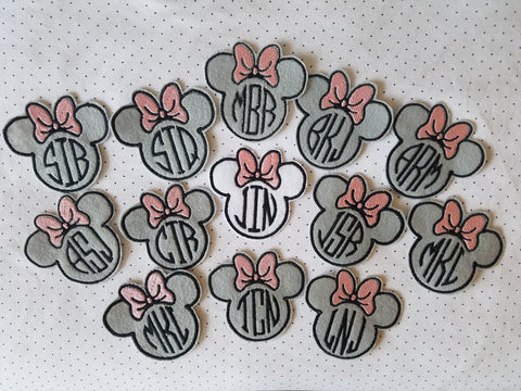 Minnie Monogram Patch