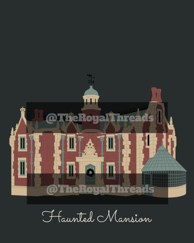 WDW Haunted Mansion Print
