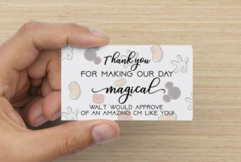 Cast member Compliment Cards