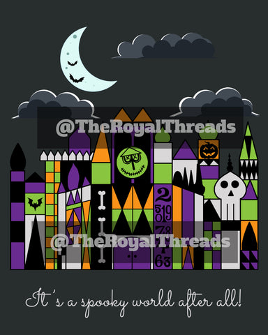 Small World Halloween Print