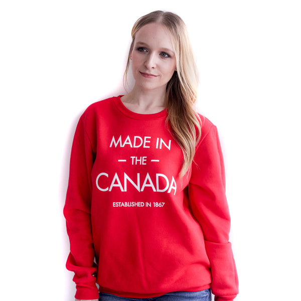 MADE IN THE CANADA Unisex Premium Crewneck Sweatshirt - YGK Studios