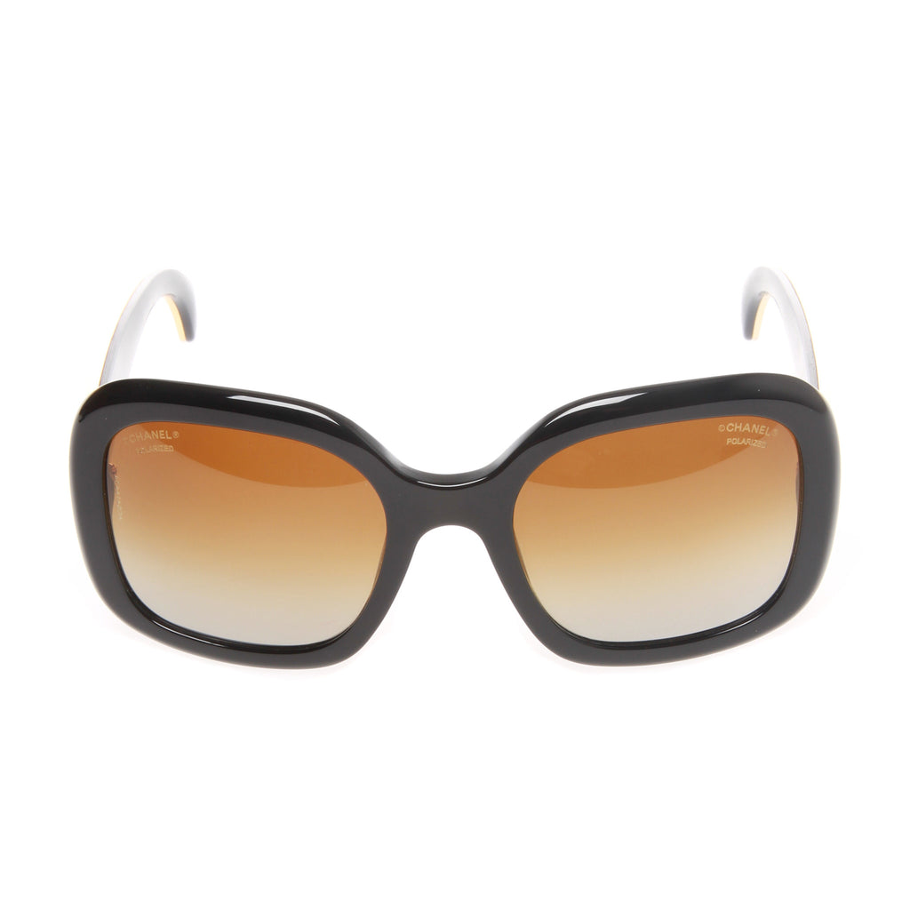 d327b43979 CHANEL Two-Tone Polarized Sunglasses