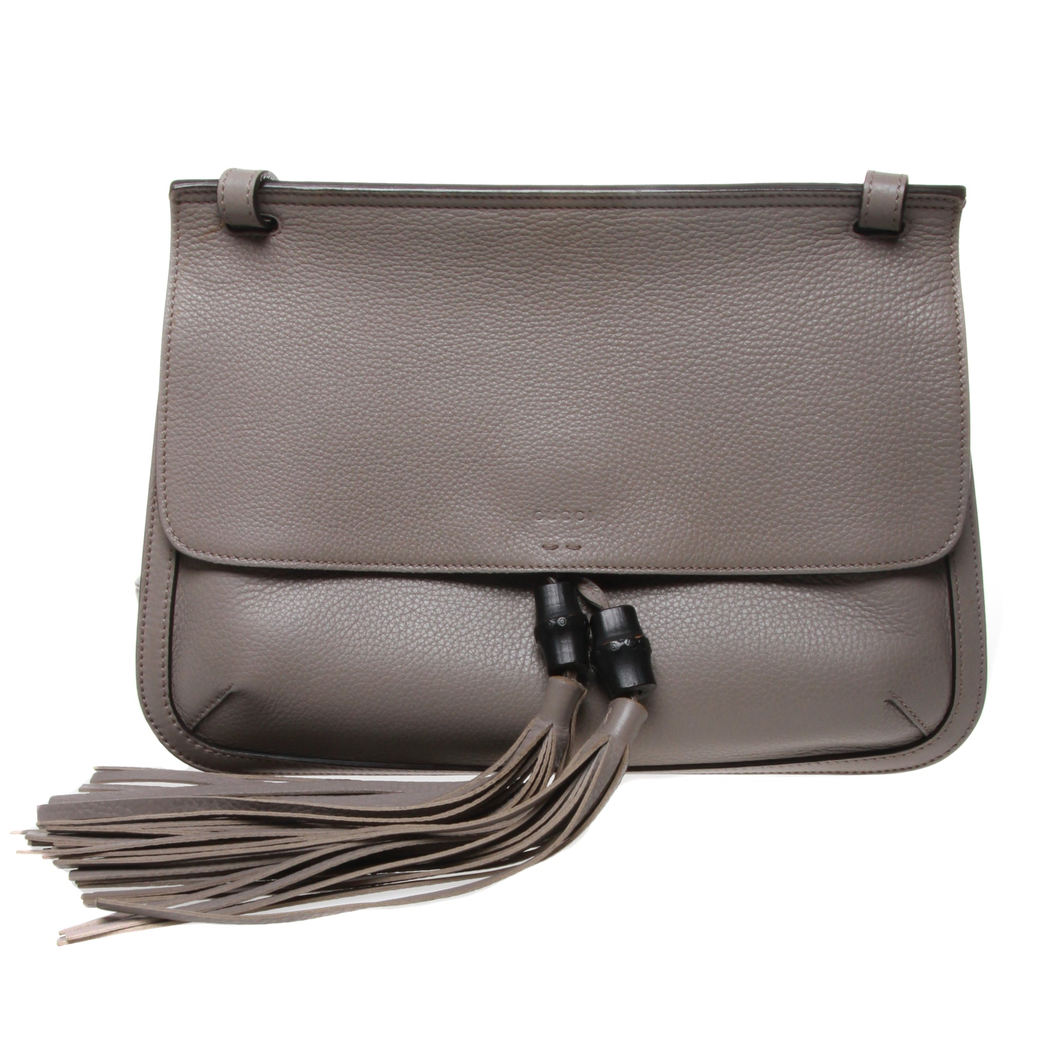 1829043f274 Pre-owned Gucci Bamboo Daily Leather Flap Shoulder Bag – Madam ...