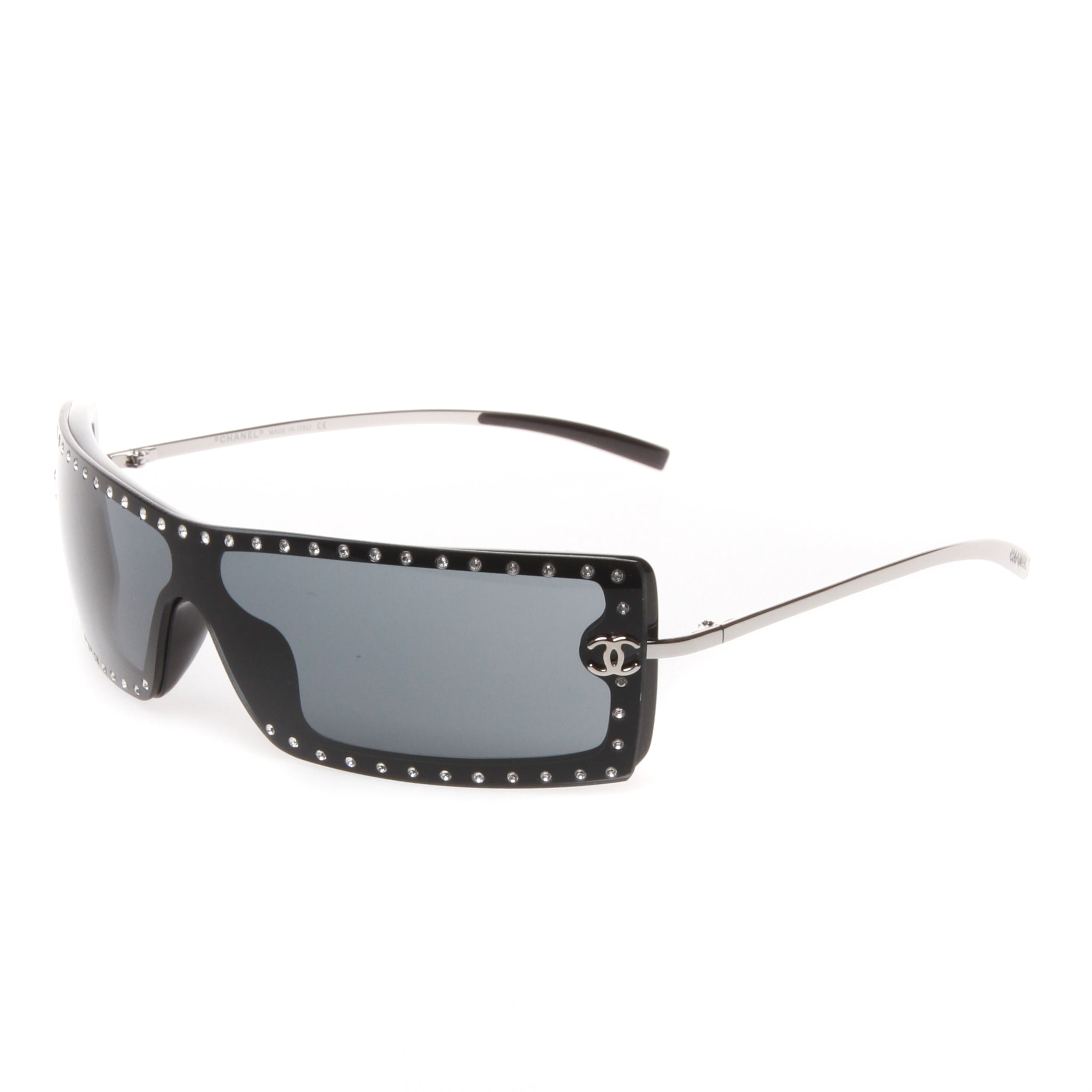 89cd4e5bb39 Pre-owned Rimless Chanel Sunglasses Encrusted with Swarovski Crystals