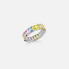 OVER THE RAINBOW BAGUETTE RING