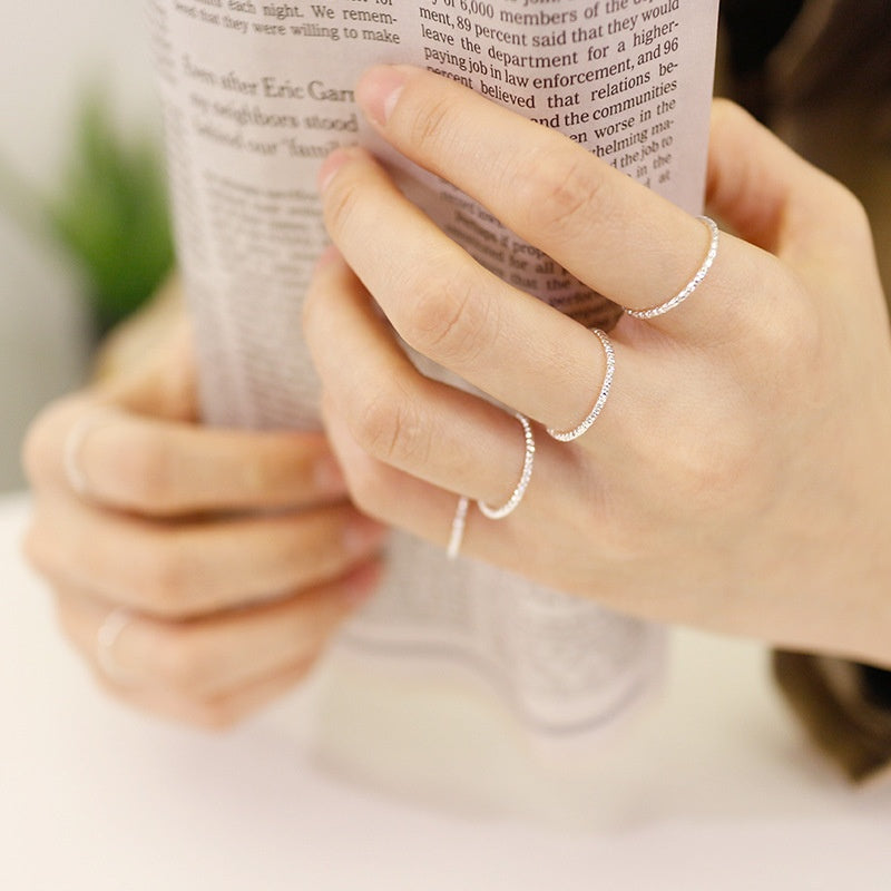 Ariannah Sterling Silver Midi Ring - House of Pascal