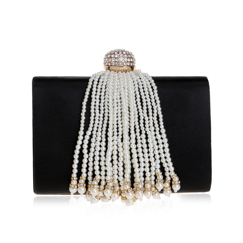 Diamonds and Pearls Satin Clutch Bag